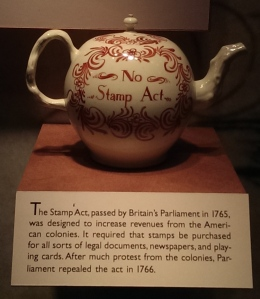 No Stamp Act Teapot, DeWitt Museum