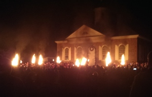Market Illumination at the Courthouse - it's not nearly as torches and pitchforks as it looks.