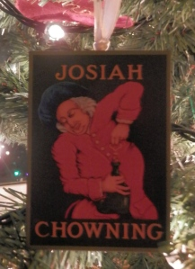 Chownings Tavern Sign Ornament - I told you I got ornaments everywhere I ate...