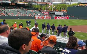 Warmups, Padres at Orioles