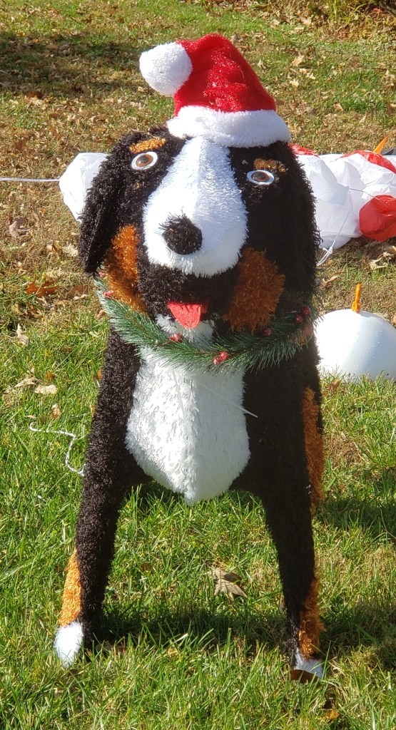 Big silly dog Christmas decoration
